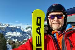 Selfie mit Ski