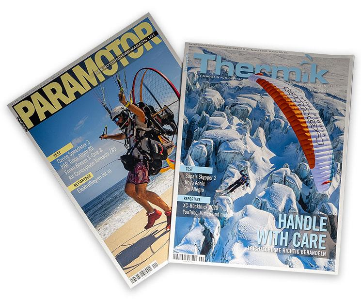 Titelblatt der Thermik und der Paramotor Zeitschrift